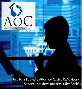 The AoC Program - Attorney on Call Advisory Service Logo